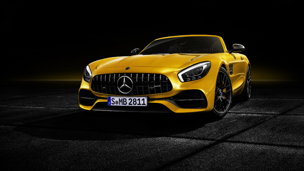 Full HD White And Silver Mercedes Benz Amg Gt Wallpaper