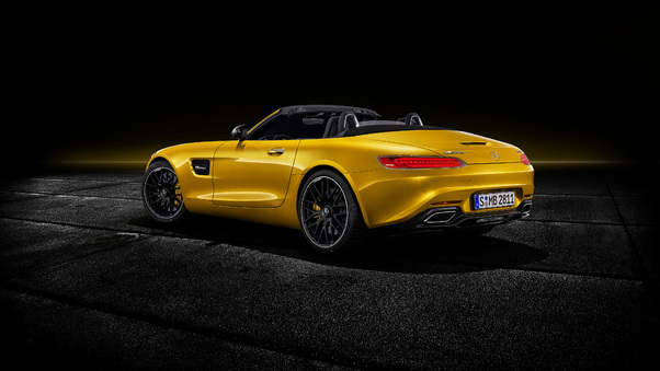 Full HD Mercedes Amg Gt S Roadster 2018 Open Roof Wallpaper