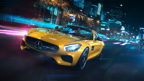 Full HD Mercedes Amg Gt S Rear Wallpaper