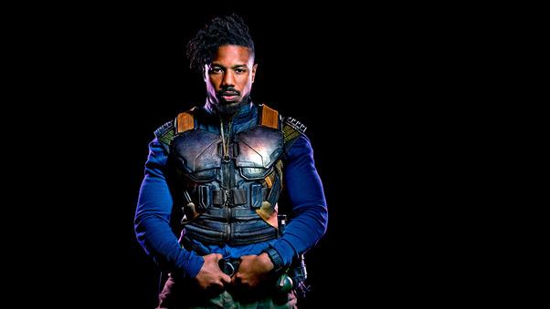 Michael B Jordan As Erik Killmonger In Black Panther 2018 ...