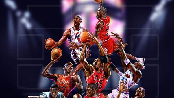 Michael Jordan Cartoon Wallpaper: Michael Jordan Art, HD Sports, 4k Wallpapers, Images