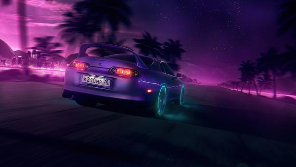 Full HD Neonnight Toyota Supra 4k Wallpaper