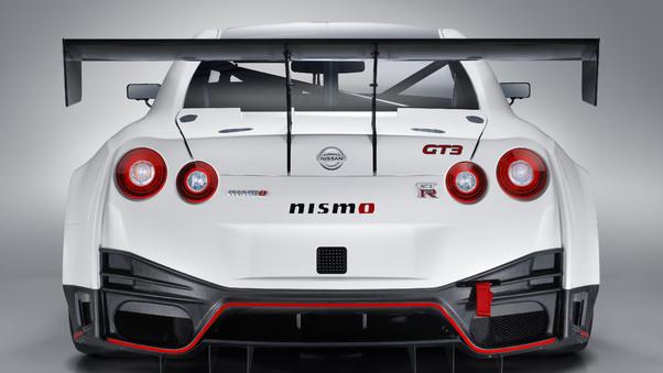 Full HD Nismo Nissan Gt R Gt3 2018 Rear Wallpaper