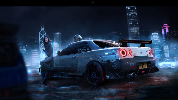 Full HD Nissan Gtr Photoshoot Wallpaper