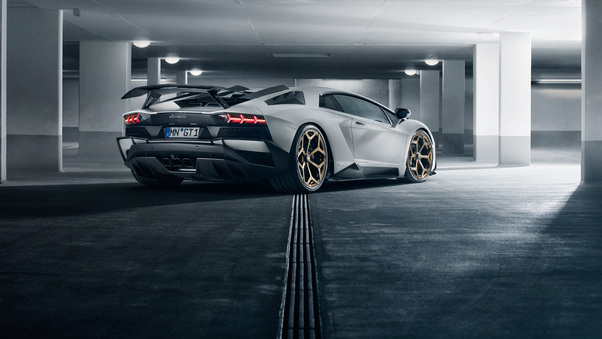 Full HD Novitec Torado Lamborghini Aventador S 2018 Rear View Wallpaper