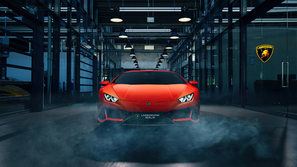Full HD Orange Lamborghini Huracan 4k New Wallpaper