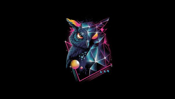 Owl 80s Design 4k Hd Artist 4k Wallpapers Images