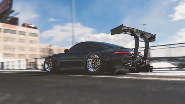 Full HD Porsche Gt4 Northern Lights Wallpaper