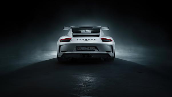 Full HD Porsche 911 Gt3 R 2018 Rear Wallpaper