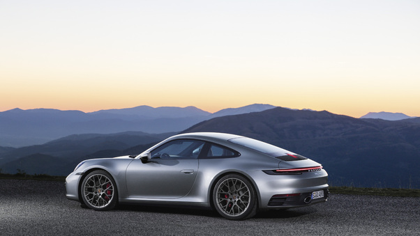 Full HD Porsche 911 Silver 2018 5k Wallpaper