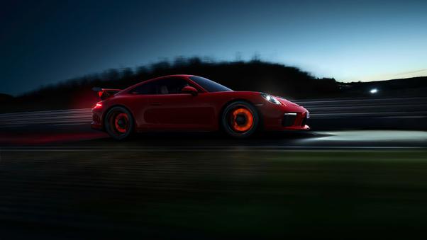 Full HD Red Porsche 918 Wallpaper