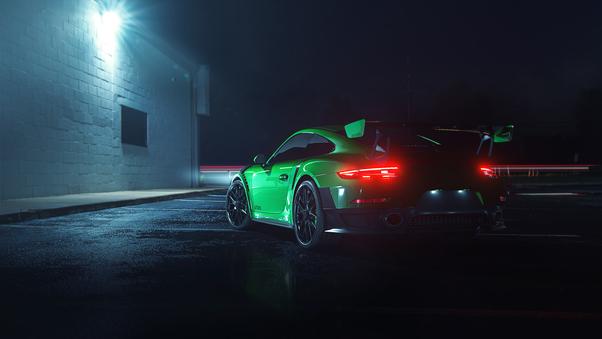 Full HD Porsche In Snow Wallpaper