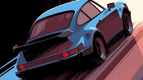Full HD Porsche Red 4k Wallpaper