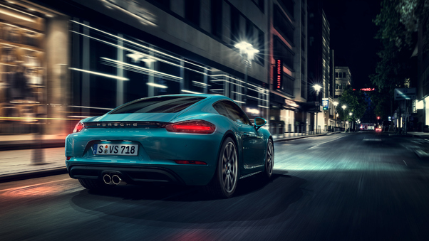 Full HD Porsche Cayman S Rear Wallpaper