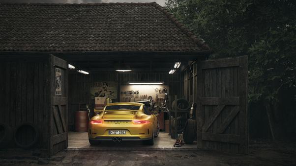 Full HD Porsche Gt3 Barn Wallpaper