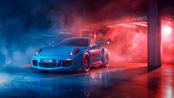 Full HD Porsche 911 Turbo S Twin Turbo Artistic Wallpaper
