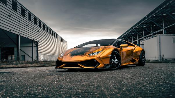 Full HD Lamborghini Huracan Golden Gate Bridge Wallpaper