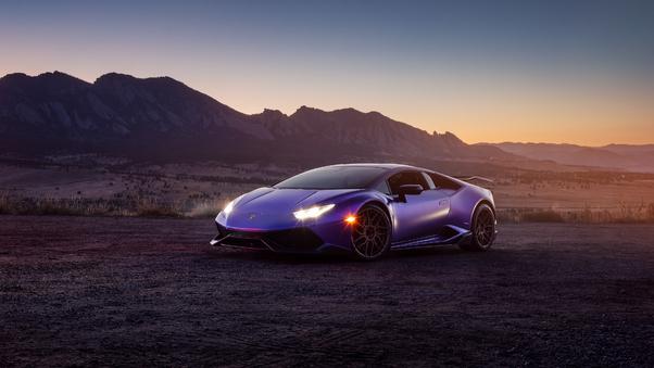 Full HD Purple Lamborghini 4k Wallpaper
