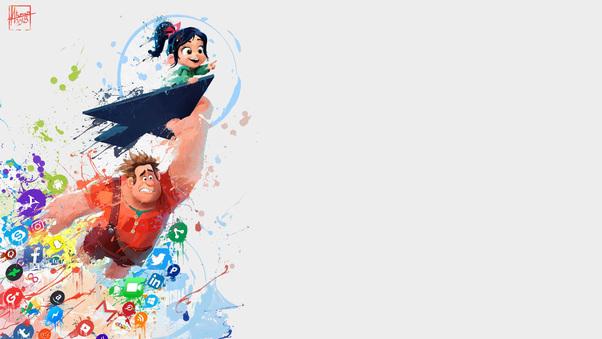 Wreck It Ralph Animation Movie 4k Hd Desktop Wallpaper For: Ralph Breaks The Internet Wreck It Art, HD Movies, 4k