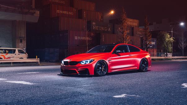 Full HD Red Bmw M4 Wallpaper