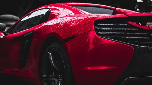 Full HD Red Mclaren Rear Wallpaper