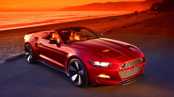 Full HD Red Mustang 5k Wallpaper
