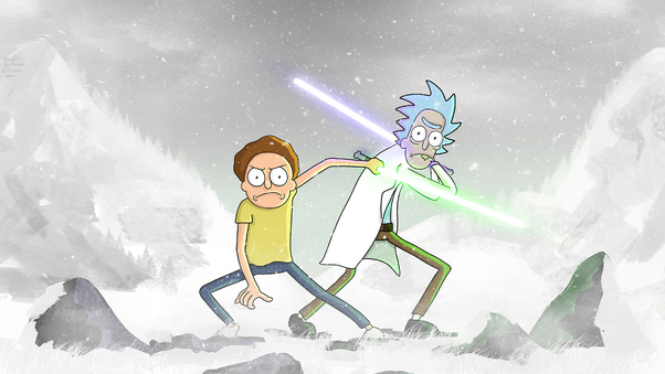 Rick And Morty Star Wars 4k Hd Tv Shows 4k Wallpapers Images Backgrounds Photos And Pictures