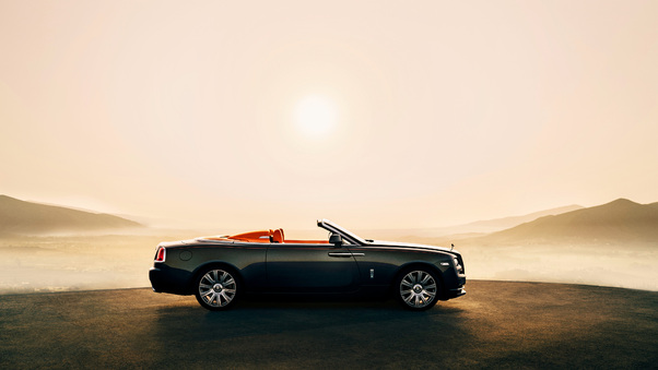 Full HD Rolls Royce Dawn Model Posing Wallpaper