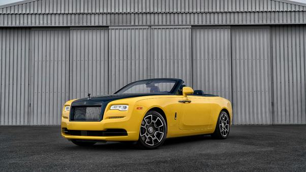 Full HD Rolls Royce Dawn Black Badge Benjamin Treynor Sloss 2018 Wallpaper
