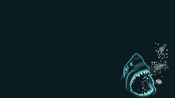 Shark Minimalism, HD Artist, 4k Wallpapers, Images ...