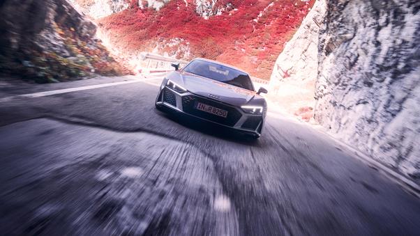 Full HD Audi R8 Spyder V10 2019 4k Wallpaper
