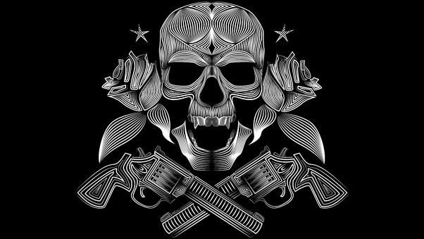 Skull Gun N Roses 8k Hd Artist 4k Wallpapers Images