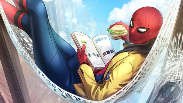 spiderman-reading-book-eating-burger-ug.jpg