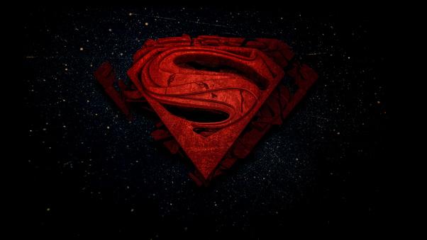 Superman 3d Logo 4k, HD Superheroes, 4k