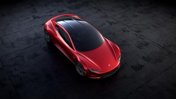Full HD Tesla Roadster Front Look Wallpaper