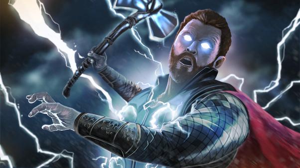 Thor Avengers Infinity War Art 4k, HD Superheroes, 4k ...