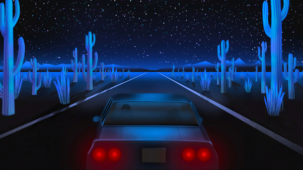 Full HD Retro Lux Cars Retrowave 4k Wallpaper
