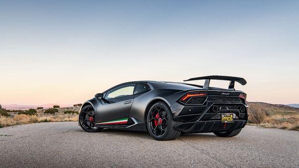 Full HD Lamborghini Huracan Performante From Back Wallpaper