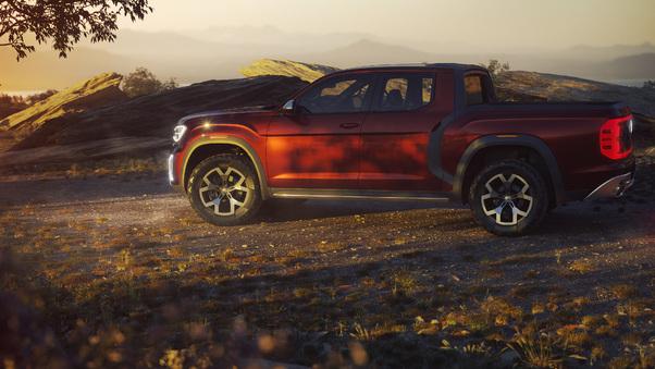 Full HD Volkswagen Atlas Tanoak Pickup Truck Concept 2018 Wallpaper