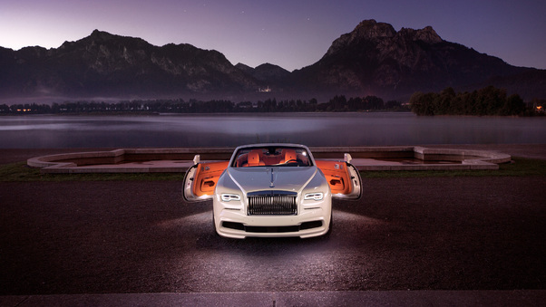 Full HD Black Rolls Royce Dawn Conor Mcgregor Wallpaper