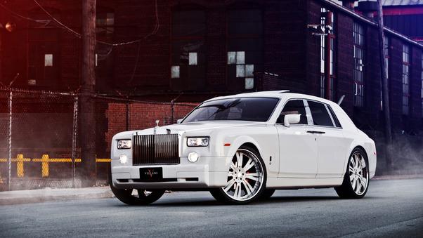 Full HD White Rolls Royce Wallpaper