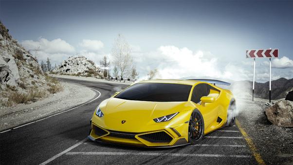 Full HD Yellow Lamborghini Huracan 4k Wallpaper