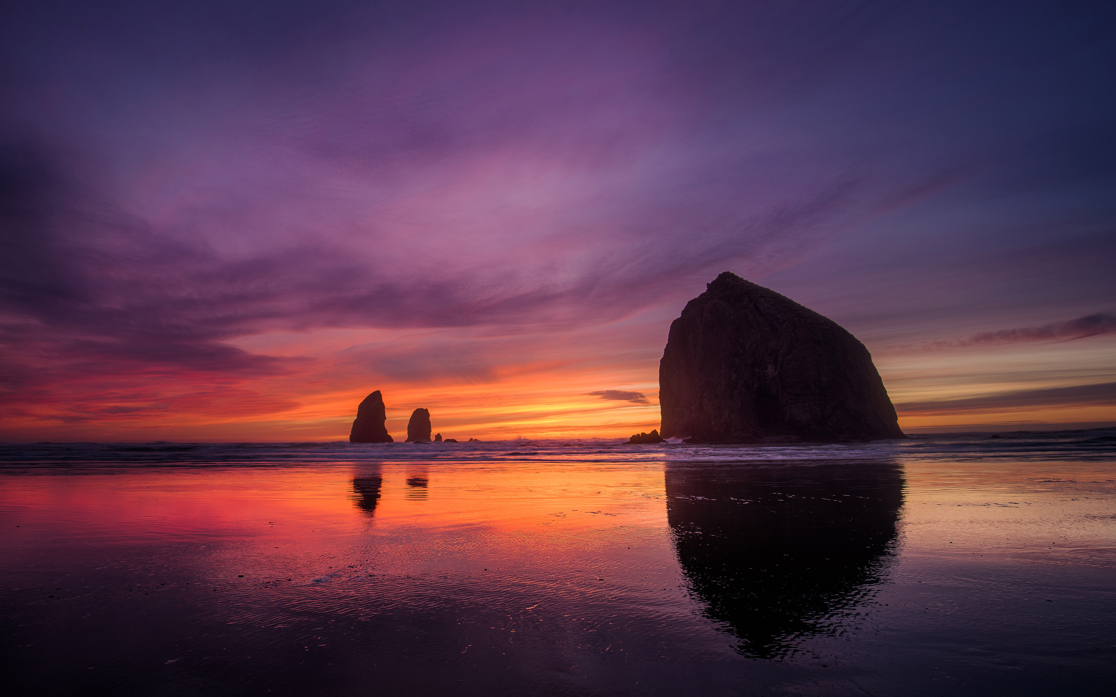 Cannon Beach Sunset Hd Nature 4k Wallpapers Images Backgrounds Photos And Pictures