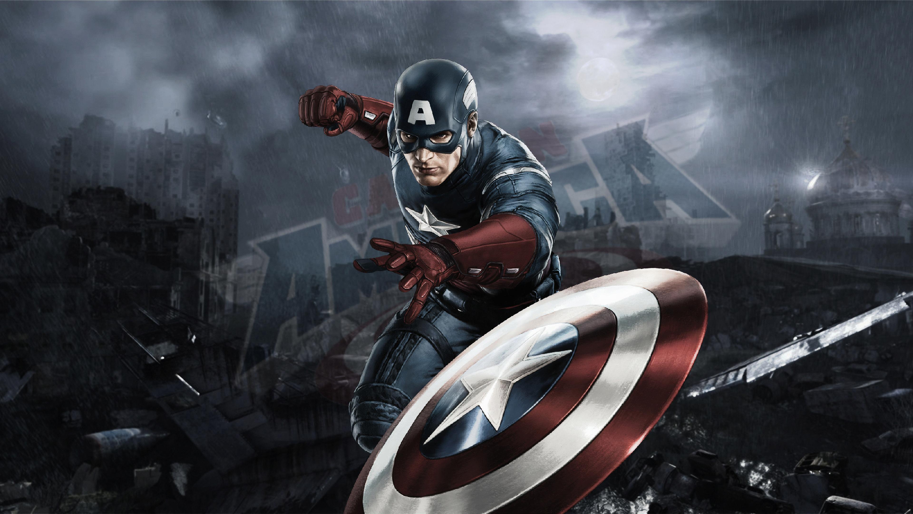 Captain America 4k Artworks, HD Superheroes, 4k Wallpapers ...