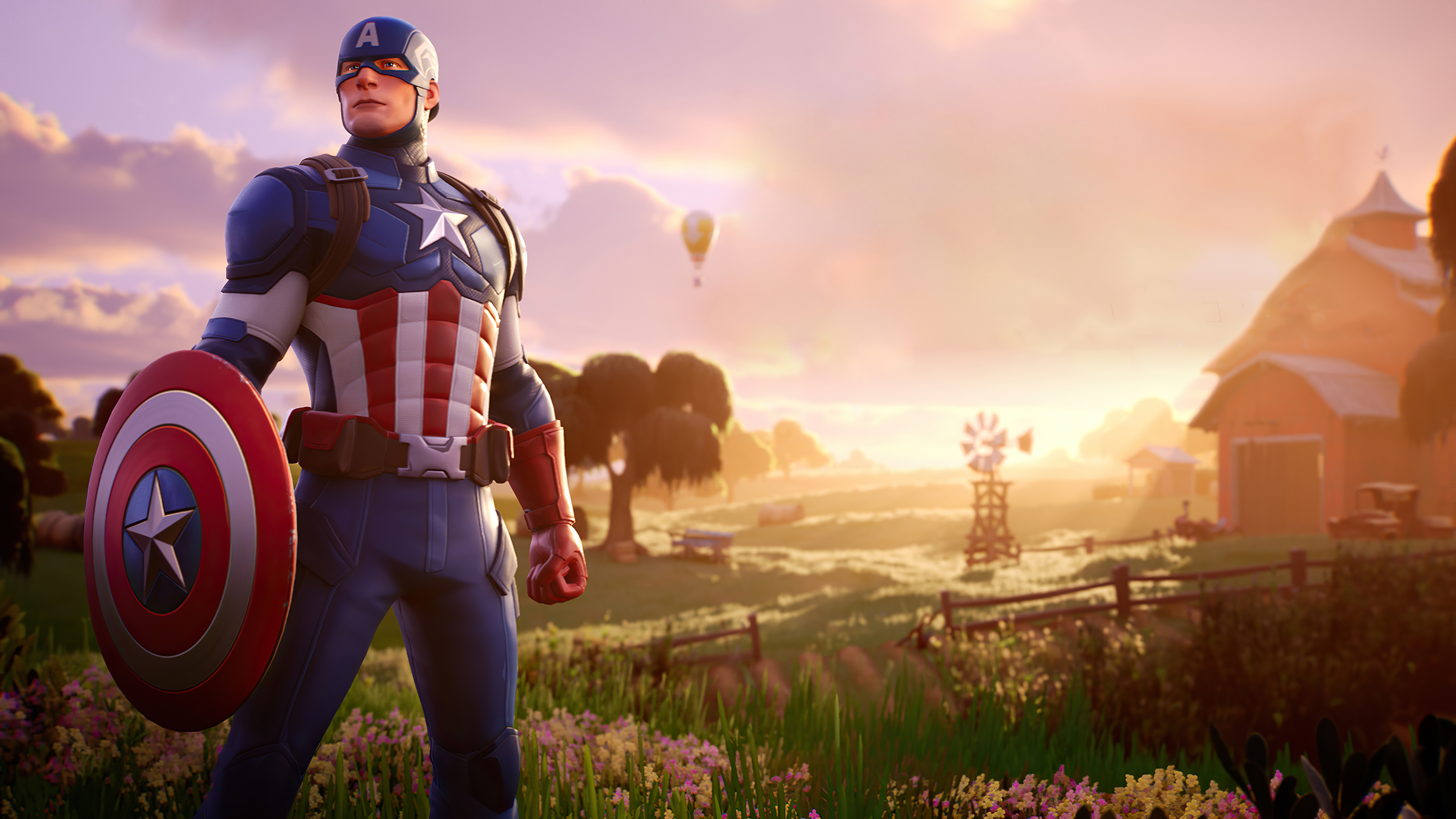 Captain America Fortnite 4k Hd Games 4k Wallpapers Images Backgrounds Photos And Pictures