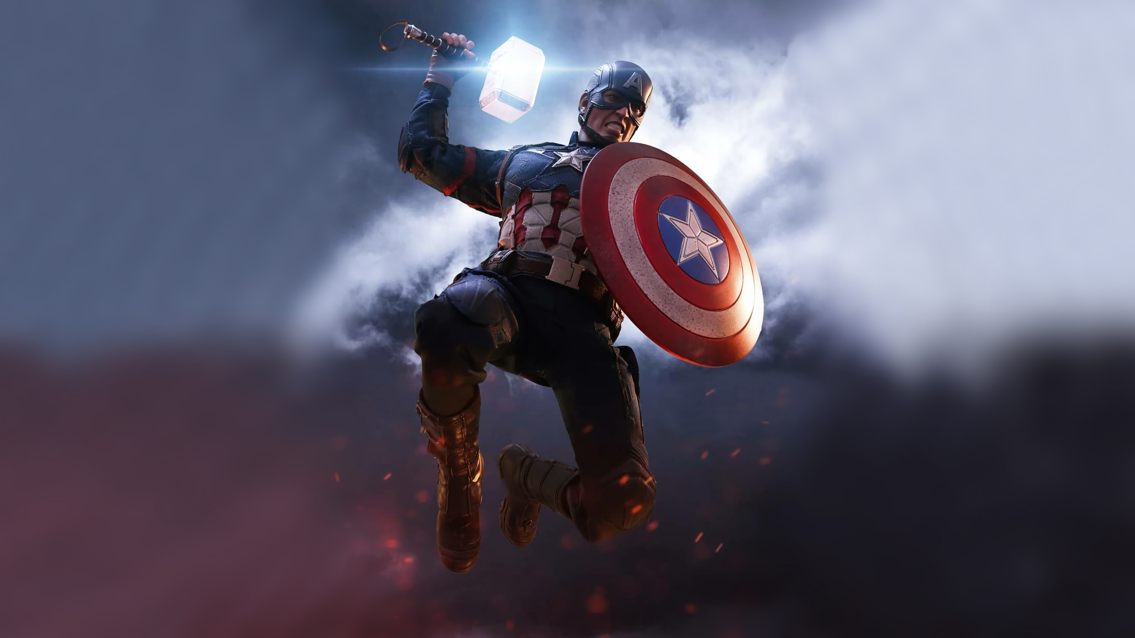 Captain America Mjolnir Artwork 4k, HD Superheroes, 4k ...