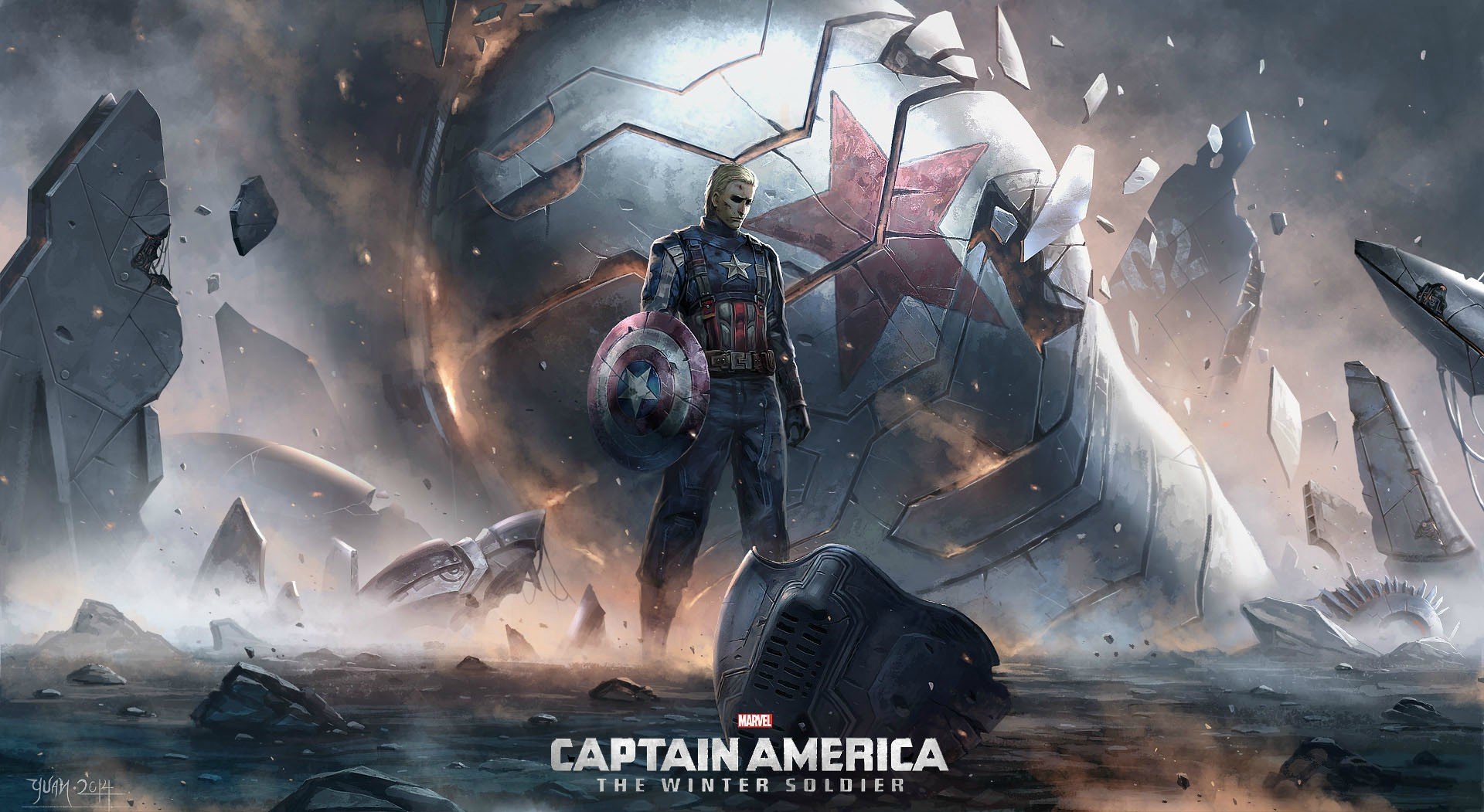 1600x900 Captain America The Winter Soldier Art 1600x900