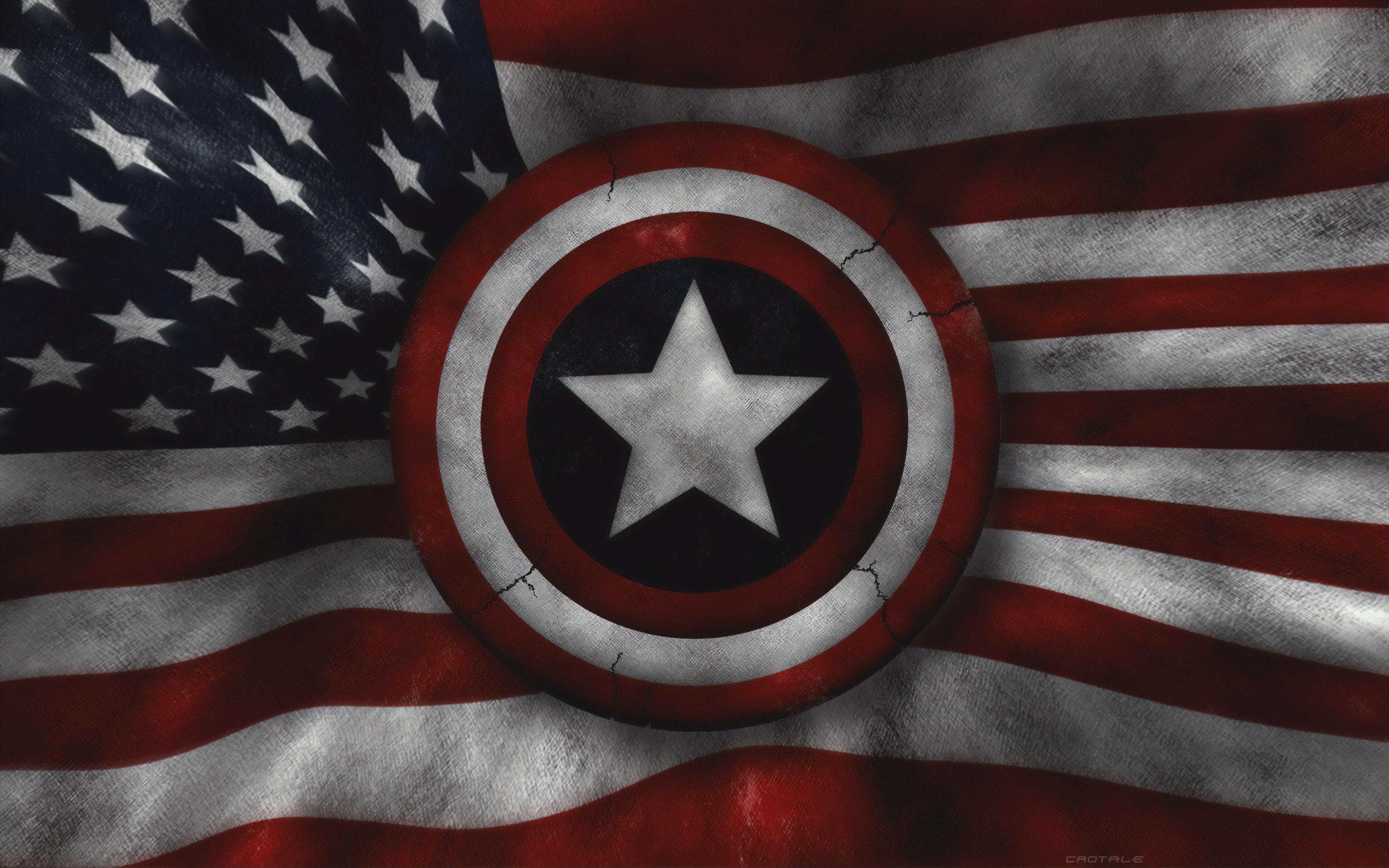 Captain America Us Flag 4k Hd Superheroes 4k Wallpapers Images