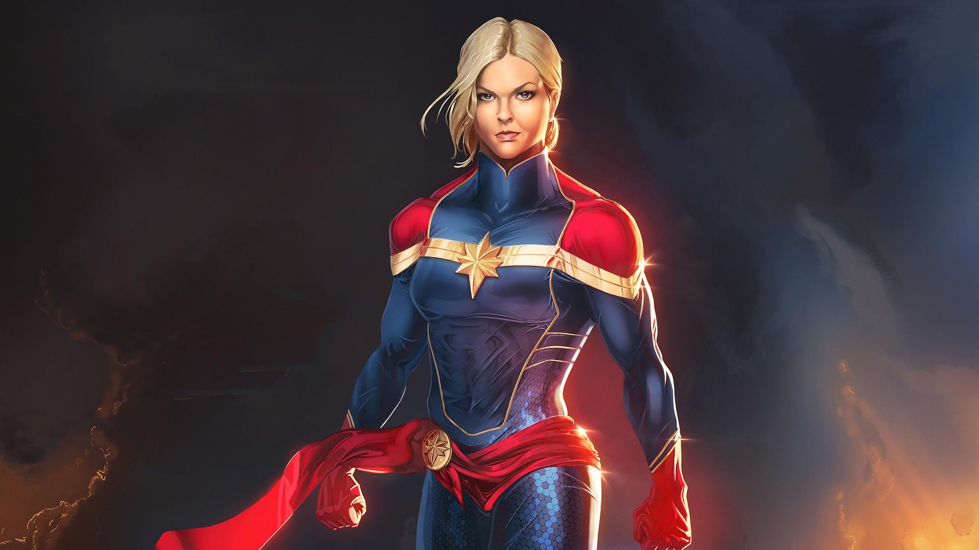 Captain Marvel Artworks, HD Superheroes, 4k Wallpapers ...