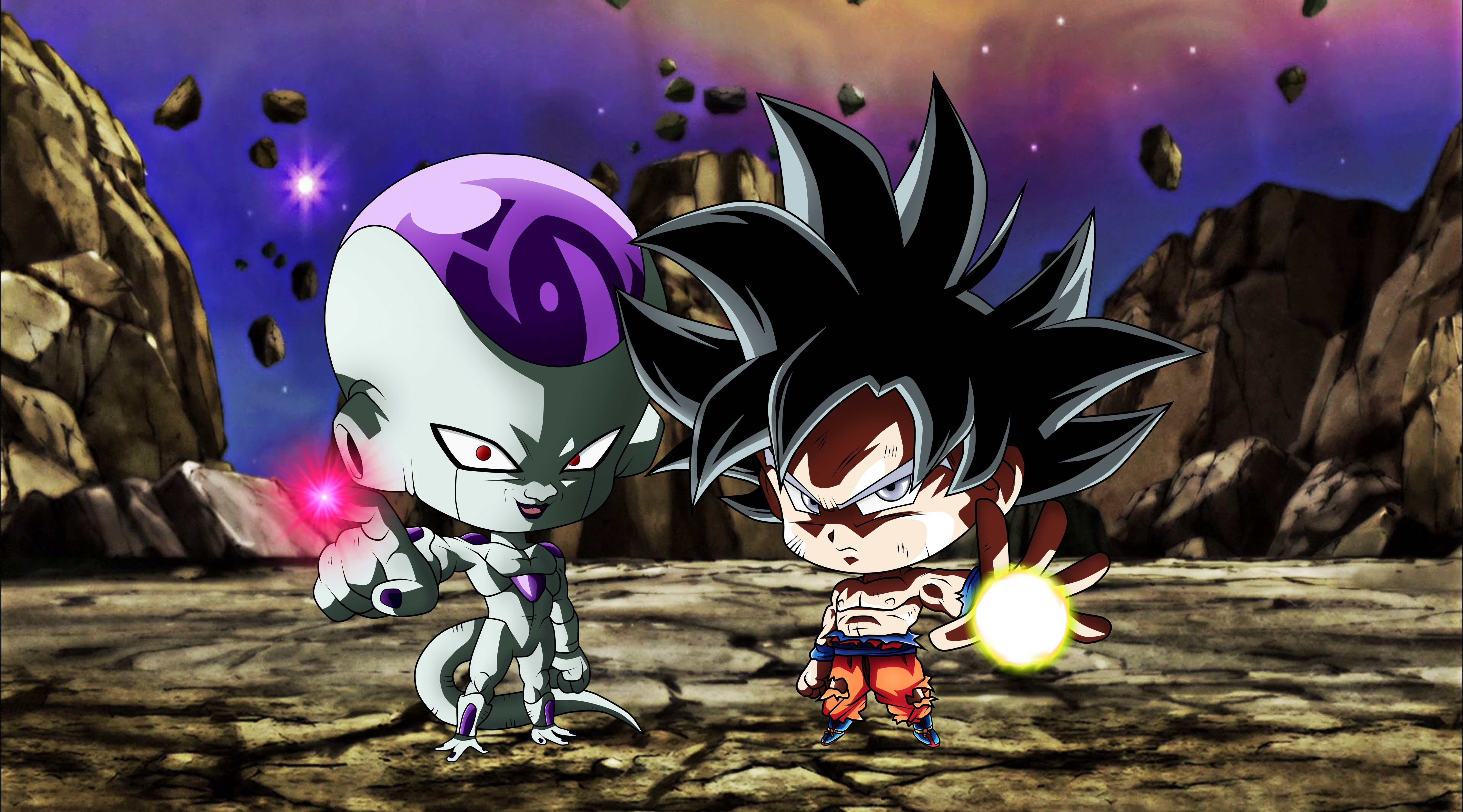Chibi Frieza Goku Ultra Instinct Dragon Ball Hd Anime 4k Wallpapers Images Backgrounds Photos And Pictures